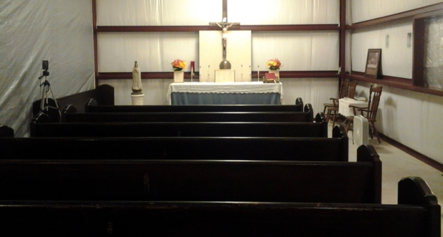 New Pews at St. Dominic's Traditional Catholic Chapel